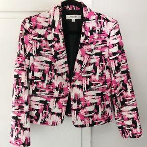 Jones Studio pink white black jacket blazer sz 8